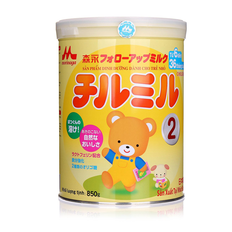 Sữa bột Morinaga Chilmil số 2 - hộp 850g (dành cho trẻ từ 6 - 36 tháng)