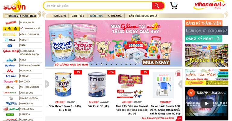 Sữa bột chính hãng mua online ở web nào là tốt nhất?
