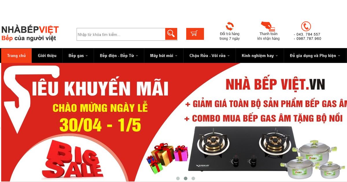 Nhà Bếp Việt - Thương hiệu thiết bị nhà bếp nhập khẩu nức tiếng GIẢM GIÁ SHOCK TỚI HƠN 50% toàn bộ sản phẩm cho khách hàng nhân dịp 30/4 - 1/5