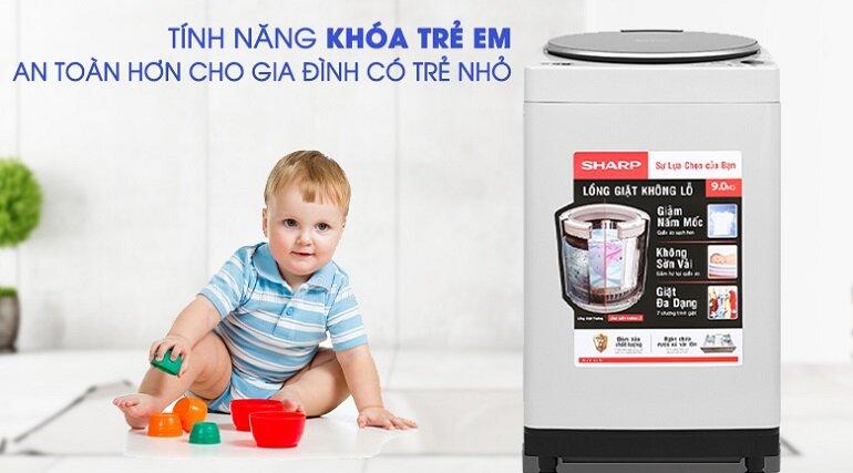 Review về máy giặt Sharp Es-u78gv-h cho gia đình từ 3-4 người