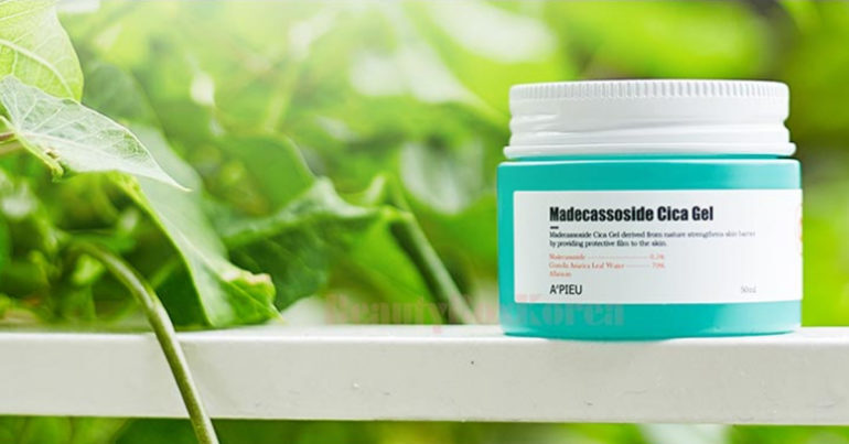 A'pieu Madecassoside Cica Gel - Gel dưỡng da trị mụn chiết xuất từ rau má