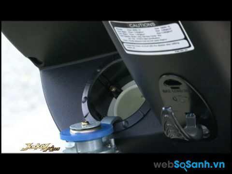 Bình xăng đặt đầu xe của Kymco Jockey