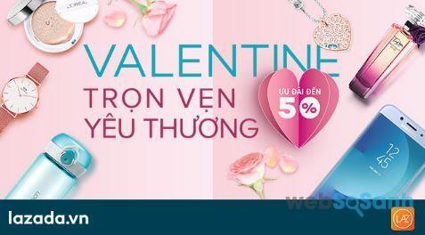 Valentine trọn vẹn yêu thương ưu đãi đến 50%