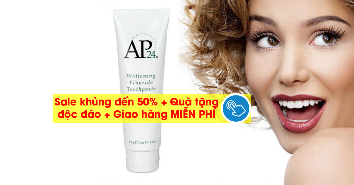 Kem đánh răng ap24 lazada đang khuyến mại khủng đến 50% và giao hàng Miễn Phí