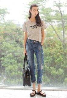Kết hợp đồ với quần baggy jeans cho bạn gái