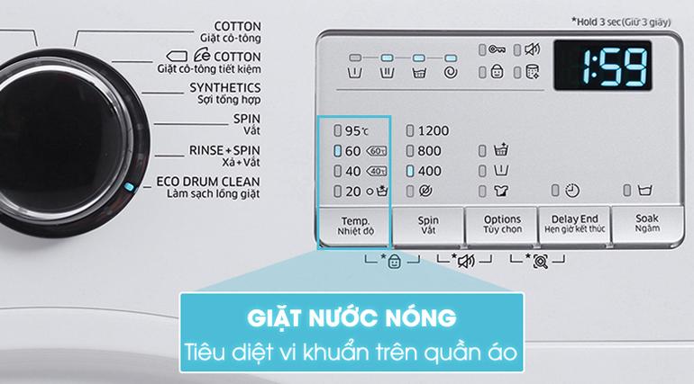 Chế độ giặt nước nóng giúp quần áo sạch hơn