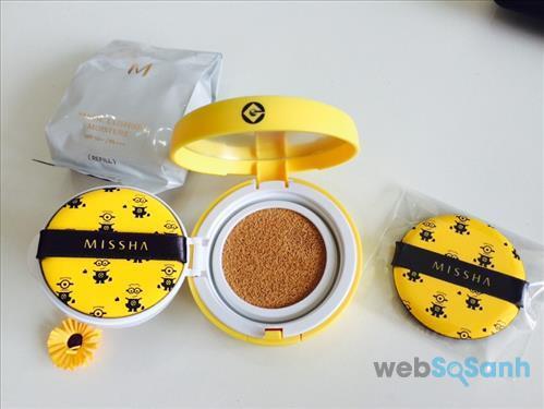 Dòng phấn nước Missha Minion Magic Cushion Moisture dành cho những cô nàng có làn da khô hoặc da thường