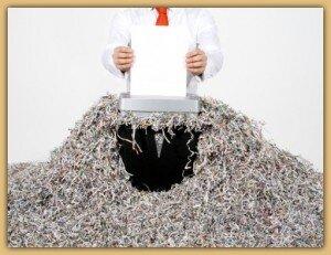 Khắc phục kẹt giấy ở máy hủy tài liệu