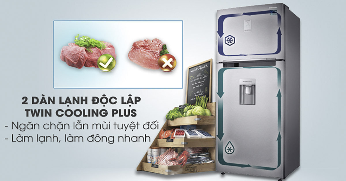 Khám phá sự độc đáo của tính năng Twin Cooling trên tủ lạnh Samsung 2018