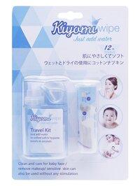 Khăn giấy nén Kiyomi - An toàn cho bé, tiện lợi cho mẹ