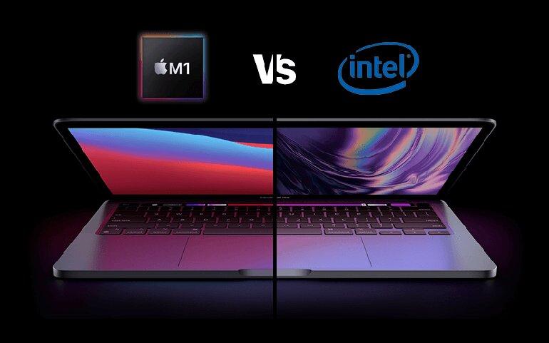 so sánh macbook m1 và intel