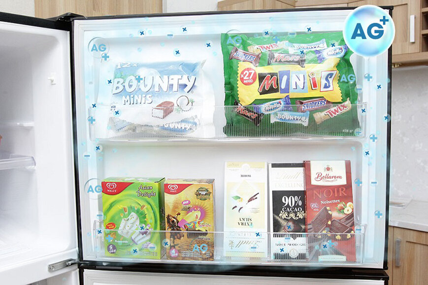 Khử mùi khử khuẩn trên tủ lạnh với công nghệ kháng khuẩn của thương hiệu Hitachi