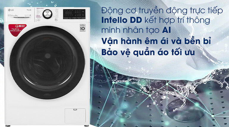 Máy giặt vận hành khá êm ái, có thể bảo vệ quần áo tối ưu