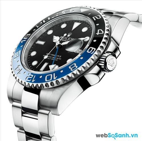 Thép chế tác đồng hồ Rolex có bề ngoài sáng, không gỉ, không phai màu...