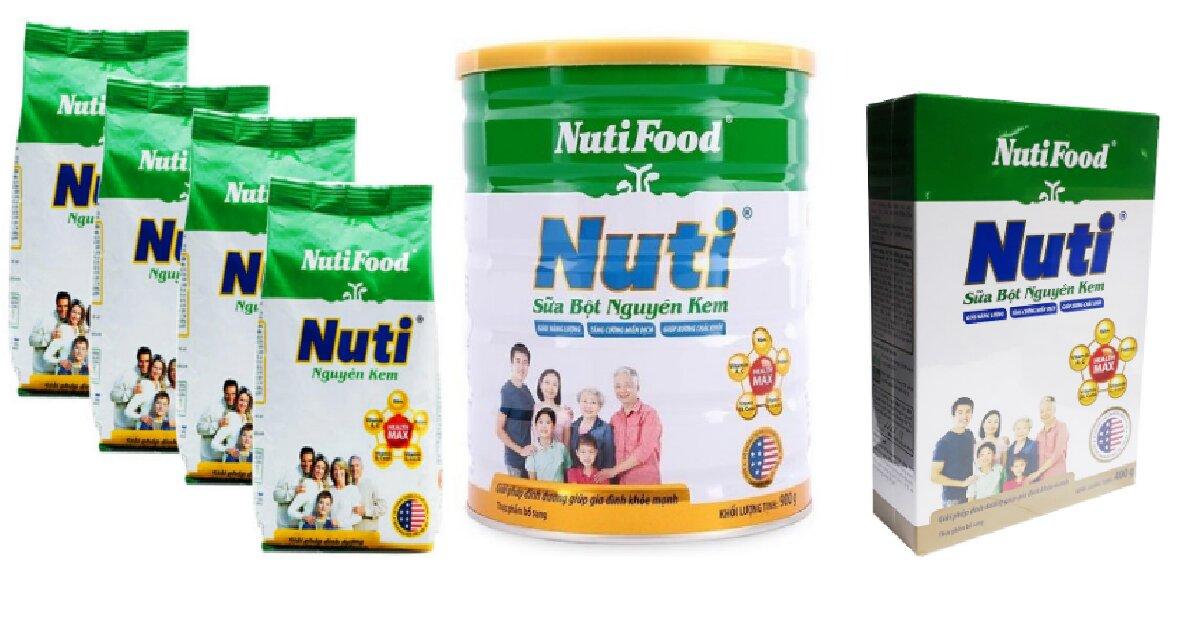 7 điều mẹ cần biết khi sử dụng sữa bột nguyên kem Nutifood cho gia đình