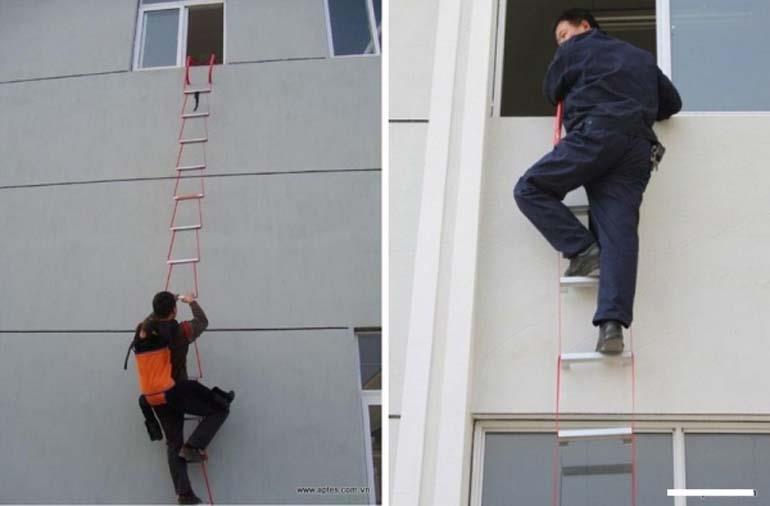 thang dây thoát hiểm