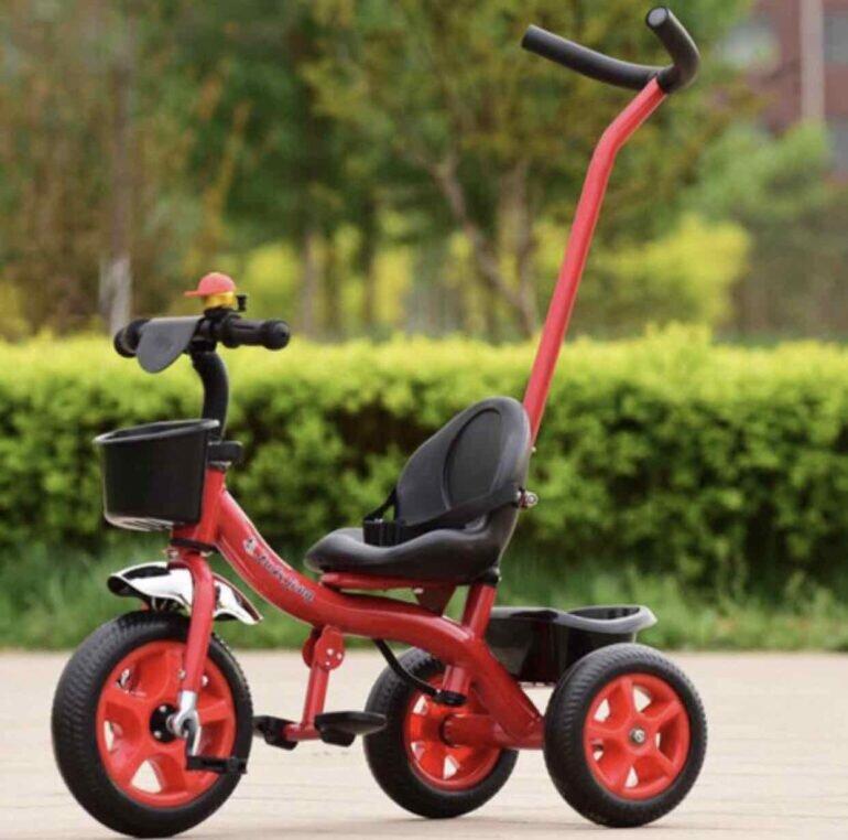 Sự đa dạng chủng loại, thiết kế xe đạp trẻ em 3 bánh có cần đẩy trên thị trường