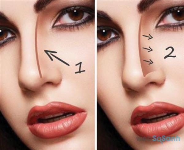 mẹo trang điểm mũi tẹt thành mũi cao