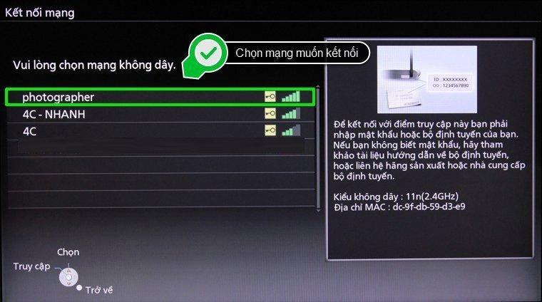 kết nối wifi cho smart tivi