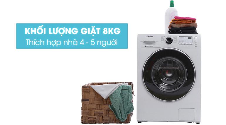 Máy giặt Samsung WW80J4233GW SV phù hợp cho gia đình 4 - 5 người
