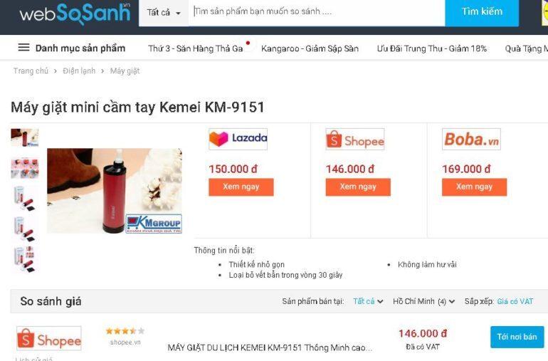 Máy giặt mini cầm tay Kemei KM-9151