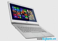 Laptop Acer Aspire S7 (2014) có thời lượng pin thấp hơn bản tiền nhiệm
