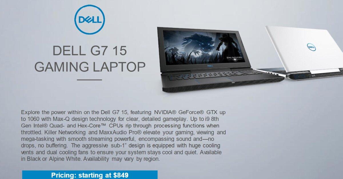Laptop Dell G7 và G3 trình làng: Sức mạnh vượt trội – chơi game cực đã