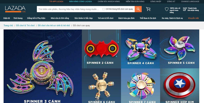 Lazada Fidget Spinner giá rẻ nhưng có nên mua không?