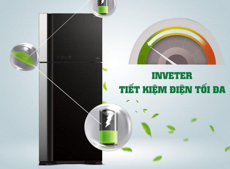 Tủ lạnh Hitachi 450L R-FG560PGV8 (GBK) có tiết kiệm điện không?