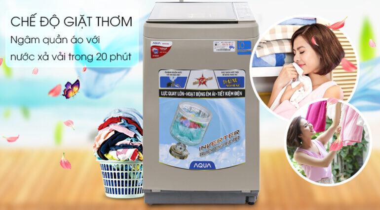 Máy giặt Aqua Inverter 9 kg AQW-D901BT N - Giá tham khảo: 6.550.000 vnđ