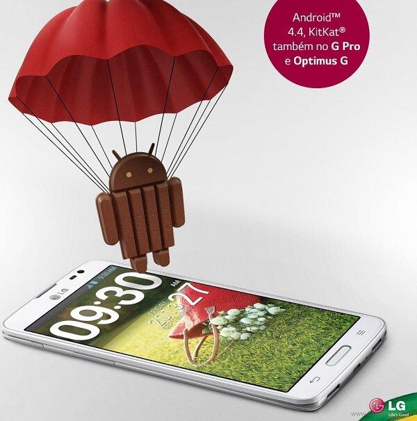 LG công bố cập nhật Android KitKat cho smartphone Optimus đời cũ
