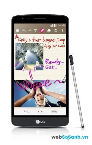 LG G3 Stylus điện thoại tầm trung với bút cảm ứng của LG
