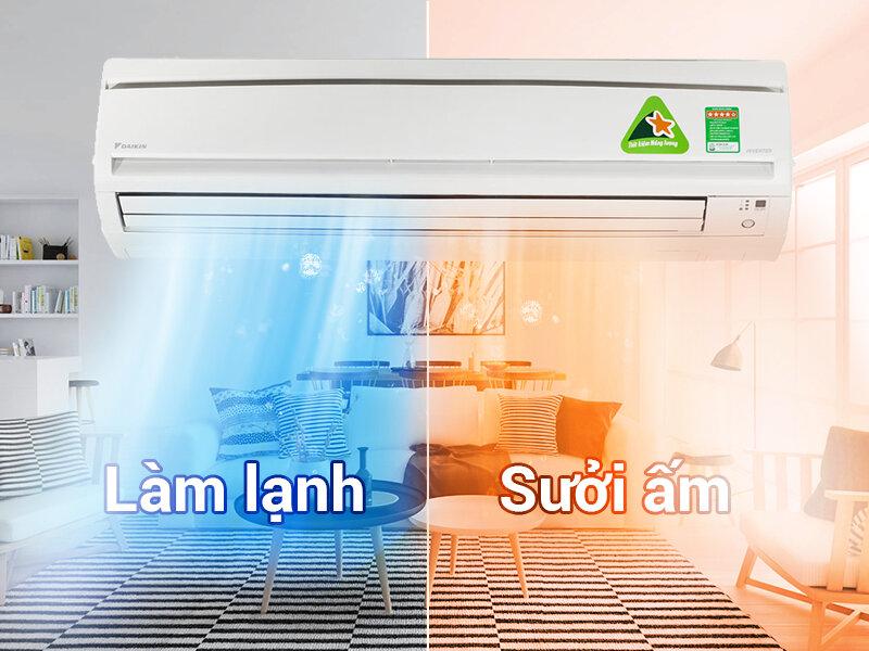 Máy lạnh Daikin 2 chiều theo chuẩn chất lượng của Nhật