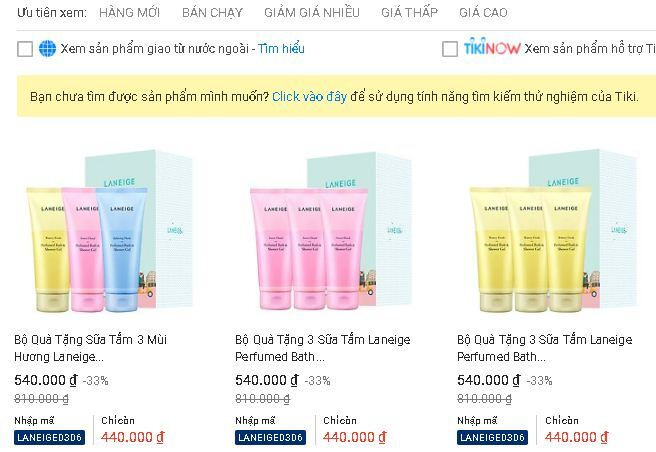 Sữa tắm Laneige Perfumed Bath & Shower Gel có mấy loại ?