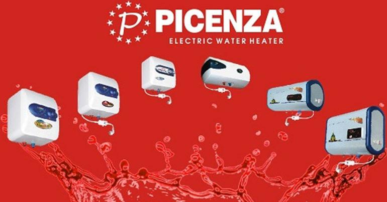 Bảng giá bình tắm nóng lạnh Picenza cập nhật mới nhật thị trường tháng 8/2018