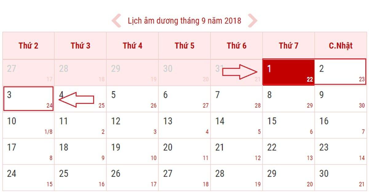 Lịch nghỉ Quốc Khánh 2/9 chính thức của người lao động