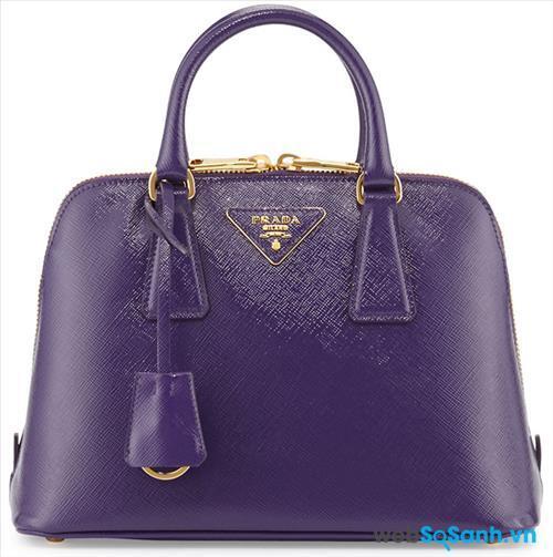 Prada Saffiano Vernice Promenade Bag
