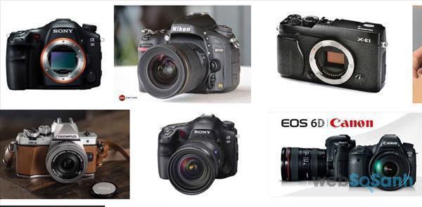 Một số máy ảnh Full-frame trên thị trường