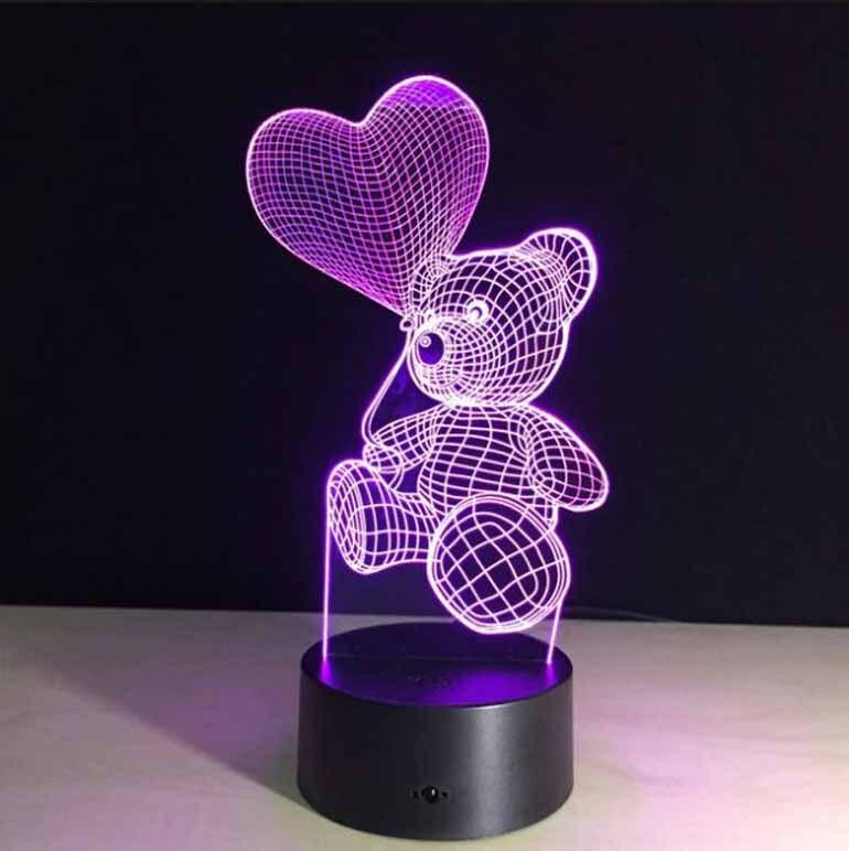 Đèn ngủ 3D hình gấu