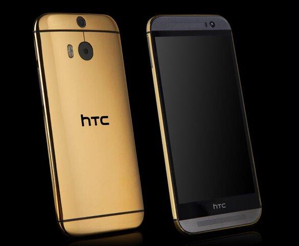 Lộ diện HTC One M8 mạ vàng và bạch kim có giá hơn 2500$