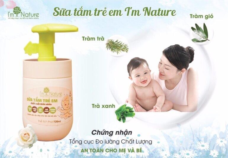Công dụng sữa tắm trẻ em I'm Nature