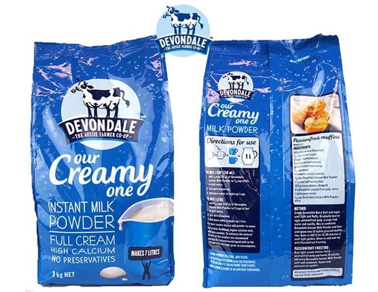 Sữa Devondale tăng cân tốt không