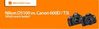 Lựa chọn Nikon D5100 hay Canon EOS 600D (Rebel T3i)???