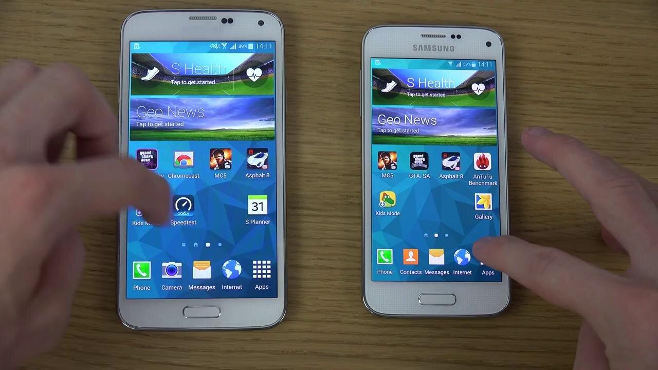 Lựa chọn Samsung Galaxy S5 Mini hay thêm một chút tiền cho siêu phẩm Galaxy S5?