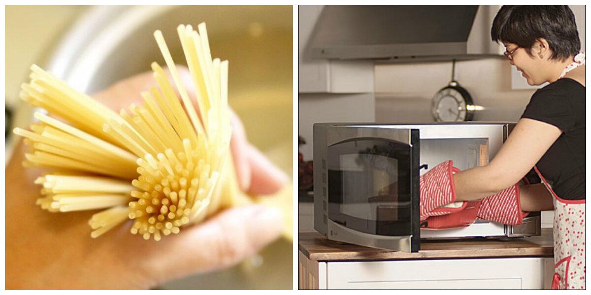 Luộc mì ống, mì spaghetti vừa tiện vừa nhanh bằng lò vi sóng