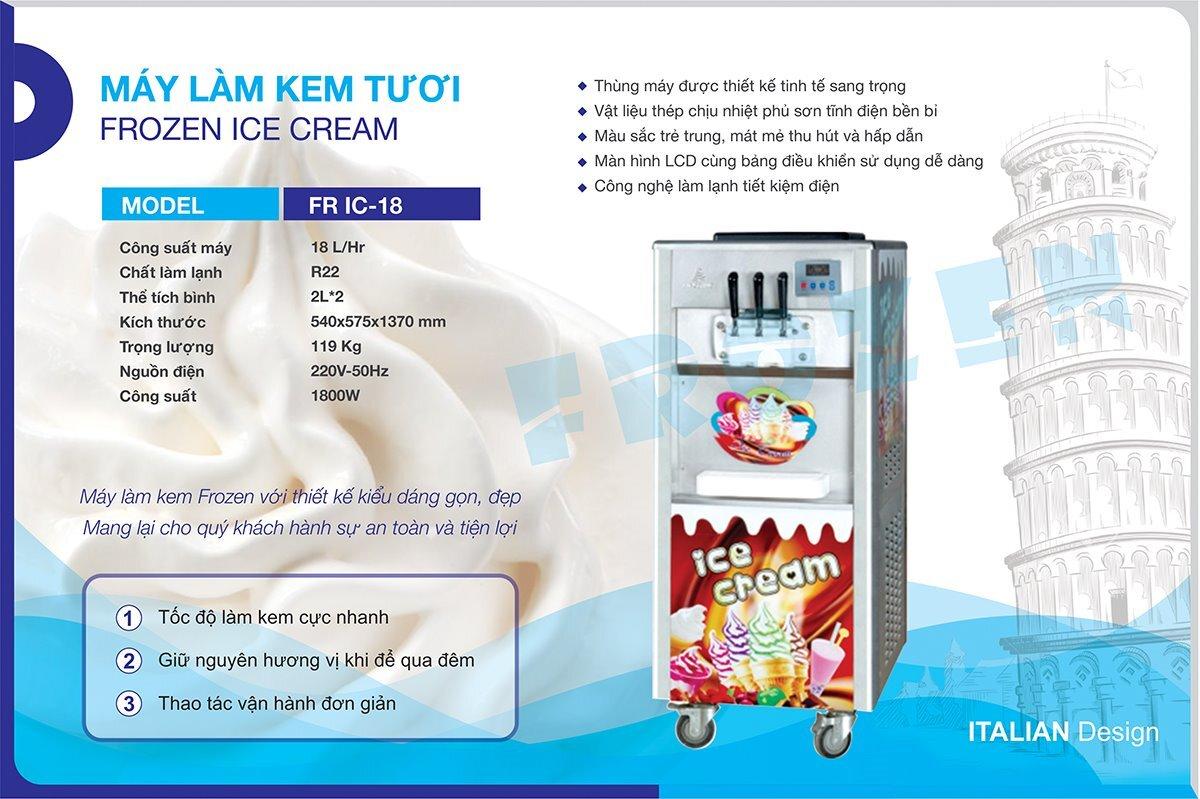 Lưu ý sử dụng máy làm kem tươi kinh doanh hiệu quả cao