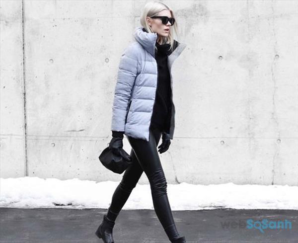 Áo khoác nữ đẹp áo phao đơn giản
