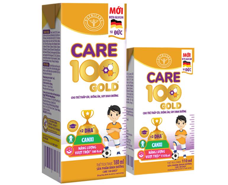 sữa care 100 gold pha sẵn 110ml và 180ml tiện dụng