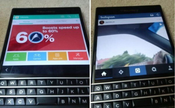Màn hình BlackBerry Passport vẫn trơn tru với ứng dụng