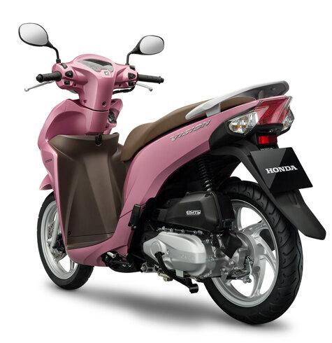Màu hồng mới có giúp Honda Vision củng cố vị trí trước Yamaha Janus 125?